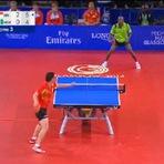 Esportes - A jogada de tênis de mesa mais louca da história