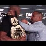 Briga de Cormier e Jon Jones durante promoção do UFC 178