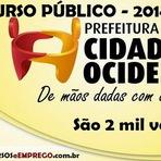 Inscrições Concurso Público Prefeitura de Cidade Ocidental (GO) Edital 2014