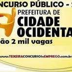 Edital Concurso Público Prefeitura Municipal de Cidade Ocidental - 2014
