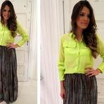 Camisa neon moda feminina 2015