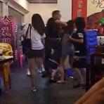 Homem bate em cinco mulheres que brigavam contra uma