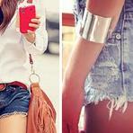 Shorts cintura alta rasgado