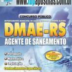 Empregos - Apostila DMAE-RS 2014 - Agente de Saneamento[+CD Grátis]