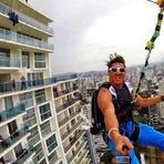 Esportes - Imagens impressionantes do maior zipline urbano do mundo