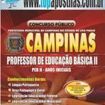 Empregos - Apostila Prefeitura de Campinas 2014 - Professor de Educação Básica II - PEB II - Anos Iniciais[+CD Grátis]