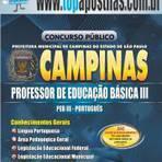 Empregos - Apostila Prefeitura de Campinas 2014 - Professor de Educação Básica III - PEB III - Português[+CD Grátis] |