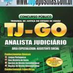 Empregos - Apostila TJ-GO 2014 - Analista Judiciário - Assistente Social[+CD Grátis]