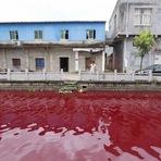 Curiosidades - Mistério: rio fica vermelho-sangue do dia para a noite