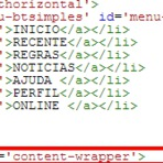 Novo menu horizontal