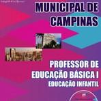 Apostila para o Concurso da Prefeitura Municipal de Campinaspara Professor de Educação Básica I – Educação Infantil