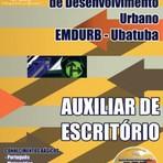 Apostila EMDURB  AUXILIAR DE ESCRITÓRIO