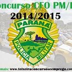 Inscrições Concurso Público Polícia Militar do Paraná - CFO PM/PR 2014/2015