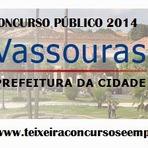 Utilidade Pública - Inscrições Concurso Prefeitura de Vassouras 2014