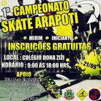 Esportes - 1° Campeonato De Skate Arapoti - PR.
