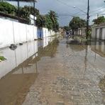 Blogueiro Repórter - Rua parece mais uma ilha quando chove