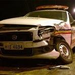 Blogueiro Repórter - Motorista cochila ao volante e bate em viatura da Polícia Militar