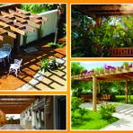 Arquitetura e decoração - Pergolado, uma solução para jardins ensolarados.