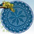 Arquitetura e decoração - Centrinho de Mesa Azul da Natureza