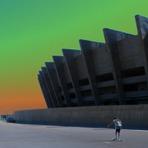 Turismo - Esplanada do Estádio Mineirão em Belo Horizonte - MG. Espaço para o lazer.