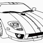 Pintura - Desenhos de carros para colorir