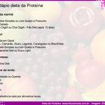 Dieta da proteína cardápio completo