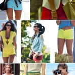 Shorts coloridos verão