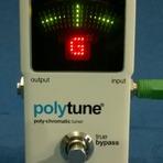Música - Teste do afinador cromático digital Polytune Classic TC Eletronic.