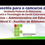 Apostila Concurso do IFSC Técnico – Administrativo em Educação Nível C – Auxiliar de Biblioteca