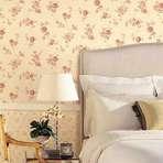 Arquitetura e decoração - Papel de parede floral como usar