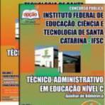 Concursos Públicos - Apostila IFSC 2014 - Auxiliar de Biblioteca[CD Grátis]