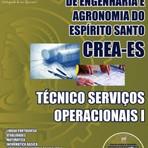 Concursos Públicos - Apostila Concurso  Espírito Santo  CREA / ES cargo de Técnico Serviços Operacionais 2014