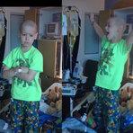 Vídeo emocionante mostra menino com leucemia pulando de alegria ao receber alta de hospital