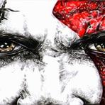 Internet -  desenhando o kratos,sub zero e muitos outros