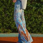 Mulher - Calça jeans estampada
