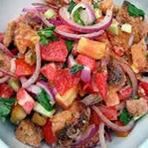 Panzanella | Pão e salada de tomate.