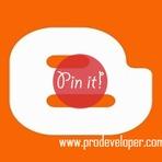 """Blogosfera - Adicionar Botão do Pinterest """"Pin It"""" ao Passar o Mouse nas Imagens do Blog"""