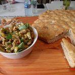 Culinária - Focaccia com tapenade por Chef Henrique Burd