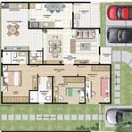 Modelos de plantas para casa com 3 quartos
