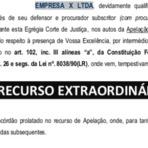 Legal - Constitucional – STF – Recurso Extraordinário | Peças Processuais