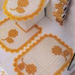 Diversos - Veja modelos de moldes de jogo de banheiro de crochê