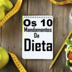 Conheça os 10 mandamentos da dieta