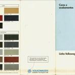 Cores e padrões de tecidos da linha VW