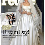 Vestido de noiva de cetim de Angelina Jolie – Modelo Vestido de Noiva