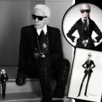 Barbie se veste como Karl Lagerfeld em comemoração aos 55 anos da boneca