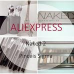Testei: Conjunto de 12 Pincéis da Sigma e Paleta Naked 2 (Aliexpress)