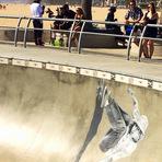 Homenagem a Jay Adams em Venice Skatepark.
