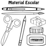 Desenhos Colorir: Material Escolar