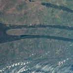 Espaço - Estranhas formas na Sibéria deixam astronautas curiosos