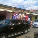 Candidato ao Governo do Ceará participa de carreata em Itapiúna.